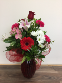 Sparkle of love Vase arrangement