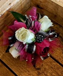Sparkle Rose  Wrist Corsage