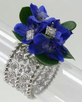Sparkling Blue Delphinium Corsage