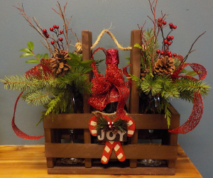 Sparkling Christmas Cheer Gift Basket in Abbotsford, BC | BUCKETS FRESH FLOWER MARKET