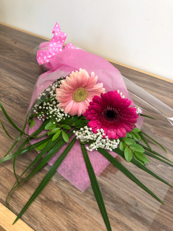 Sparkling gerberas Wrapped bouquet