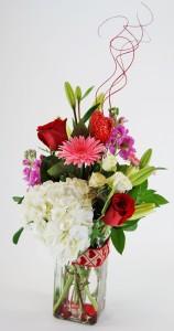 SPARKLING HEART Flower Arrangement