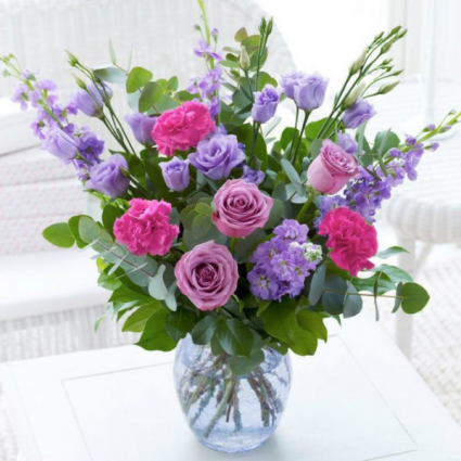 Sparkling Purpura Vase of Flowers