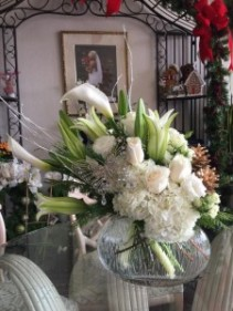Sparkling White Floral Arrangement