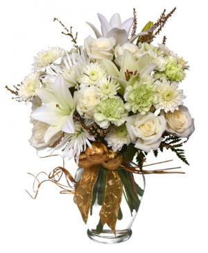 Sparkling Winter Joy Flower Arrangement in Stow, MA | STOW FLORIST/ONE MAIN ST STUDIO