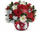 Sparkling Winter WOnderland Ornament by Teleflora Holiday-Christmas