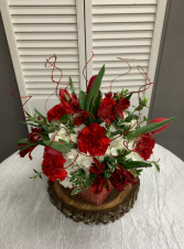 Sparkly Red Arrangement Short Cube Arrangements