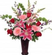 Spring Garden featuring Lilies and Roses Arrangement