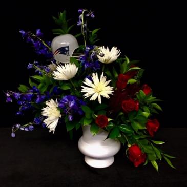 Special Fan Sympathy Floral New England Patriots