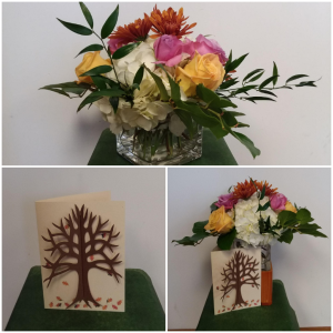 Special Message Vase with Designer Card in Norway, ME | Green Gardens Florist & Gift Shop