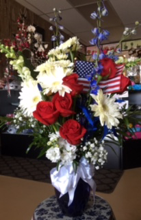 Salute To Remember Floral Vase