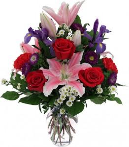 Special Valentine Vase Arrangement
