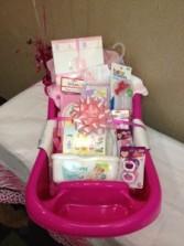 Baby girl gift basket in powder springs ga peartree of powder specialty baby girl gift basket negle Choice Image