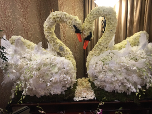 Specialty designs  Love swans.  in Ozone Park, NY | Heavenly Florist
