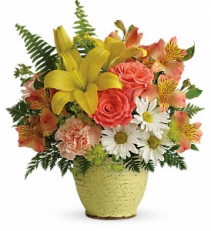 Speckled Sunshine Fresh Arrangement