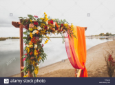 Spectacular display flowers & colors of your choice on our own traditional arch