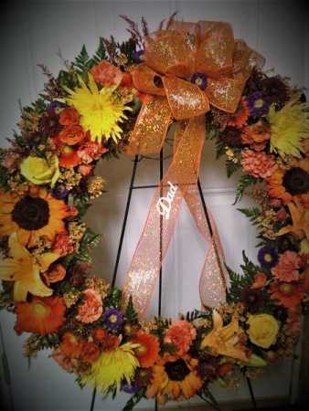 Spectacular fall fresh wreath