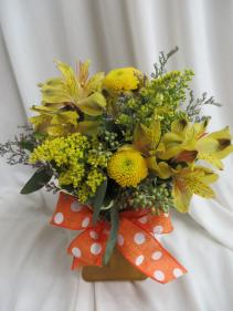 Spicey Fresh Vased Arrangement