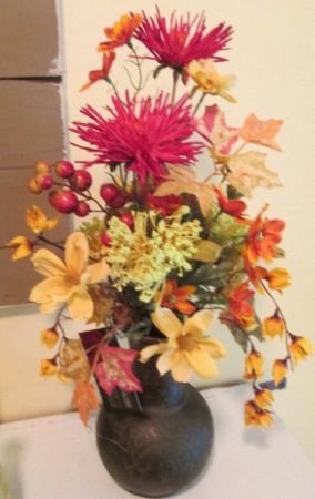 Spicy Autumn Vase Permanent Arrangement by Inspirations Floral Studio in Lock Haven, PA | INSPIRATIONS FLORAL STUDIO