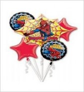 Spider Man Balloon Bouquet