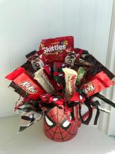 Spiderman Candy Bouquet