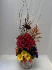 Spider's Web Halloween Arrangement