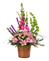 Spirit Flowers Funeral Basket