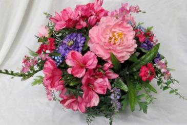 Splash of Color Centerpiece Permanent Arrangement by Inspirations Floral Studio