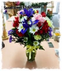 Splash of Color Fresh Flower Arrangement