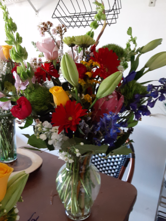 splash of colors and more mix  vase