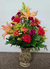 Splash of Fall Fresh Vase Arrangement (local delivery only)