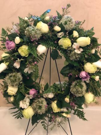 Splash of Lavender Wreath Sympathy Flowers