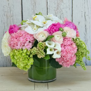 Splash of Pink Vase arrangement  in Teaneck, NJ | Teaneck Flower Shop (A.A.A.A.A.)