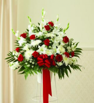 splendid grace funeral arrangement in Lebanon, NH | LEBANON GARDEN OF EDEN FLORAL SHOP