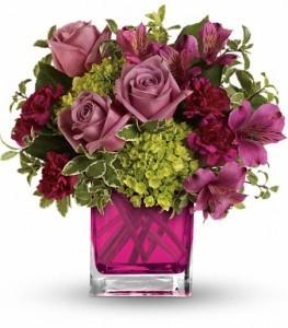 Splendid Surprise Bouquet Cube Arrangement