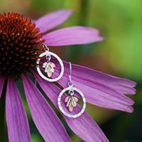 Split Color Leaf Dangle Earrings Landstrom's Black Hills Gold Jewelry in Tyndall, SD | TYNDALL HOMETOWN FLORAL & GIFTS