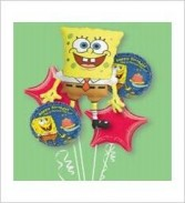 Sponge Bob Balloon Bouquet