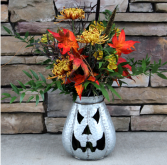 Spooktacular Jack-O-Lantern Halloween Flowers