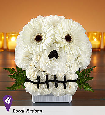 Spooky Skull Flower Arrangement holiday