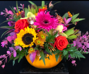 Spooky Spice Pumpkin Ceramic Pumpkin in Chesterfield, MO | ZENGEL FLOWERS AND GIFTS