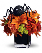 Spooky Spider fresh arrangement
