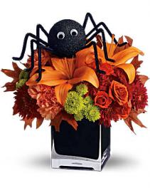 Spooky Spider fresh arrangement