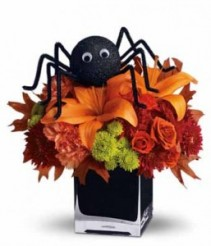 Spooky Spider Halloween Arrangement