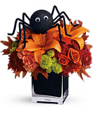SPOOKY TREAT Vase Arrangement in Longview, TX | ANN'S PETALS