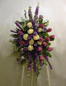 Spray of Lavender Funeral in Ware, MA | OTTO FLORIST & GIFTS