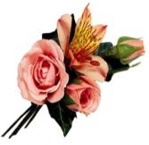 SPRAY ROSE & ALSTROEMERIA  BOUTONNIERE