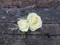 Spray Rose Boutonniere Fresh Boutonniere