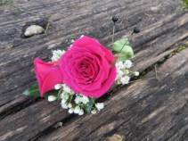 Spray Rose Boutonniere Fresh Rose Boutonniere