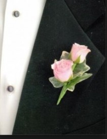 Spray Rose Boutonniere Prom Boutonniere