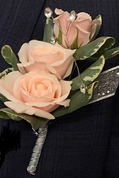 Spray rose Boutonniere Prom, Dance, Homecoming